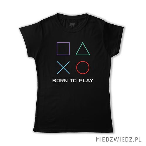 koszulka - pad - BORN TO PLAY - PS