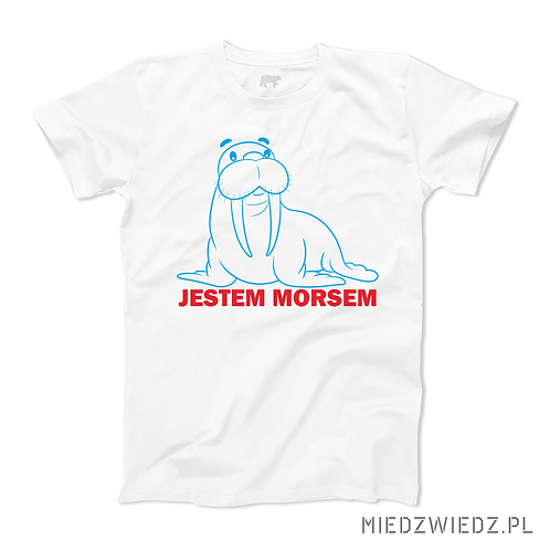 Koszulka z morsem - JESTEM MORSEM
