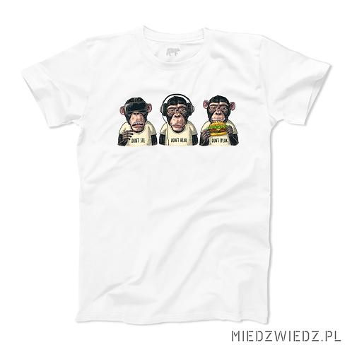 Koszulka - TRZY PRAWDZIWE MAŁPY