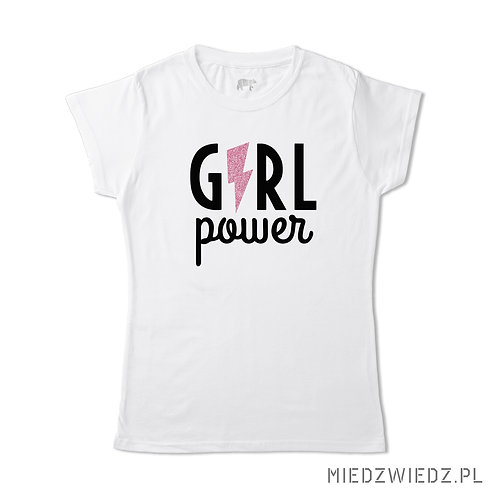 Koszulka - GIRL POWER brokat