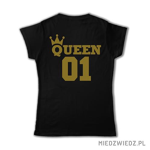 Zestaw 2 koszulek  - QUEEN GOLD & KING GOLD