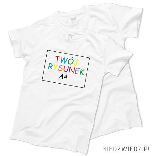 zestaw 2 koszulek  z Twoim RYSUNKIEM