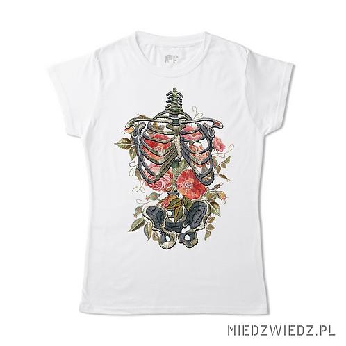 koszulka - KWIATY i KOŚCI