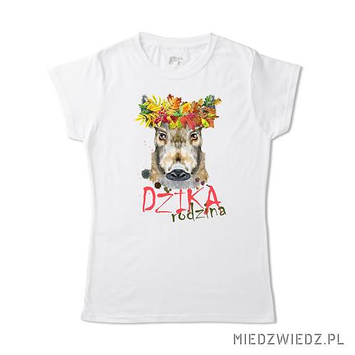 koszulka - DZIKA RODZINA -  leśny wianek 2