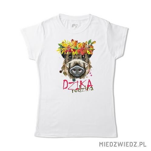 koszulka - DZIKA RODZINA -  leśny wianek 1