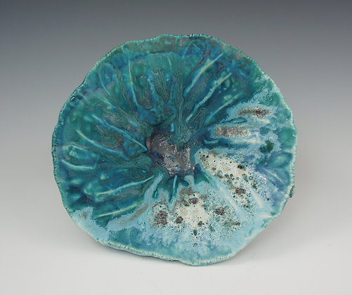 Watercolor Blue Seashell Bowl