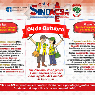 CARTAZ DIA DOS ACE E ACS - SINDACS 2019