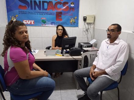 Mais um atendimento jurídico realizadona sede do SINDACS PE