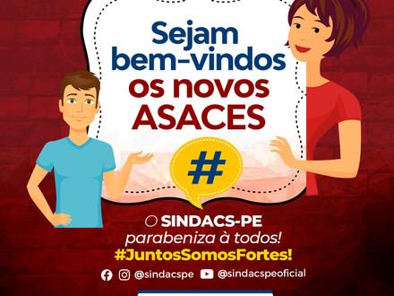 SEJAM BEM-VINDOS OS NOVOS ASACES DO RECIFE