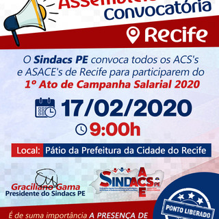 Convocatória Recife