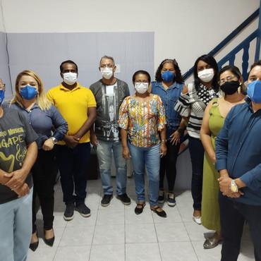 Direção do SINDACS PE estiveram em reunião nesta sexta (09/04) na Sede Recife