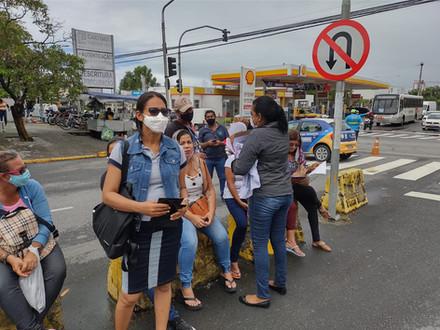 SINDACS PE esteve em mais um dia de mobilização no município de Jaboatão