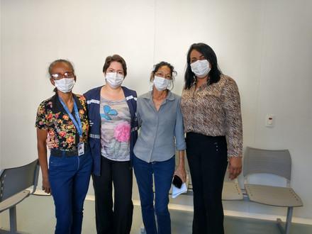 Nesta quarta-feira (05), diretora do SINDACS PE esteve em visita no município de Jaboatão/PE