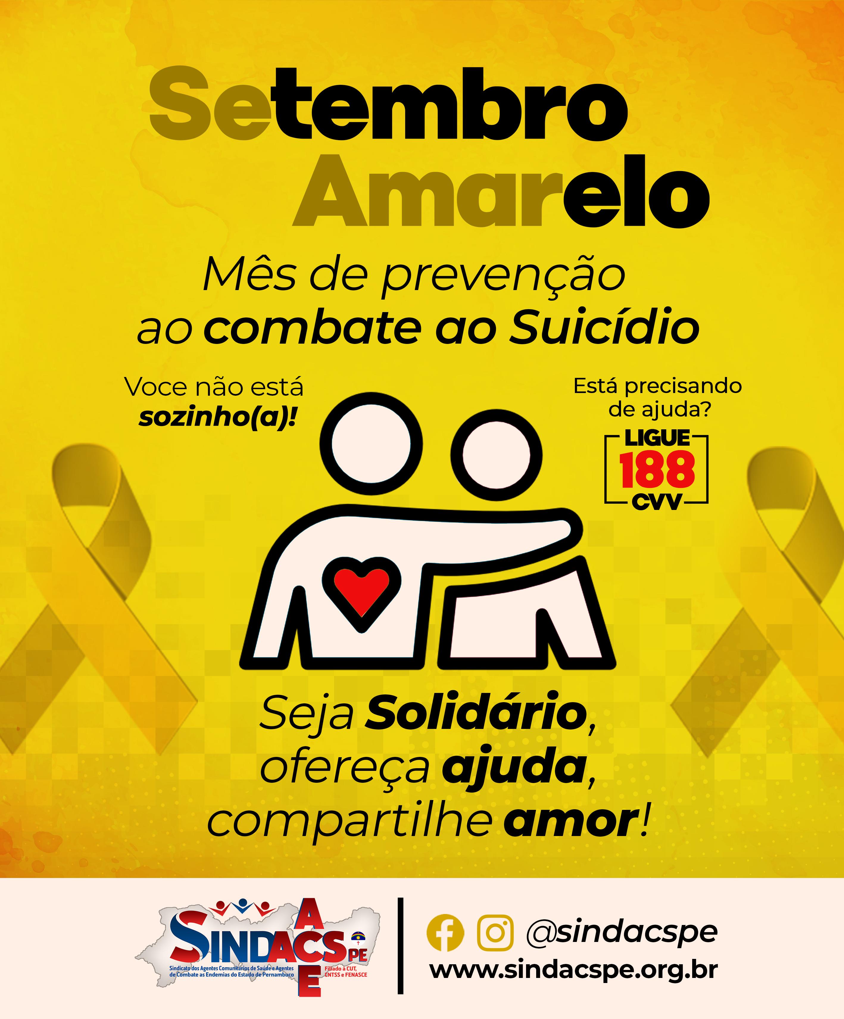 SETEMBRO AMARELO SINDACS