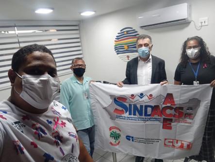 Diretores do SINDACS-PE participa de reunião na AMUPE