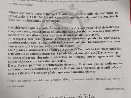 SINDACS PE agradece ao município de Garanhuns pelo cronograma de vacinação dos ACS contra a Covid-19