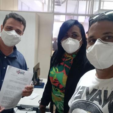 SINDACS PE inicia a entrega do ofício para a Campanha Salarial 2021 em Recife