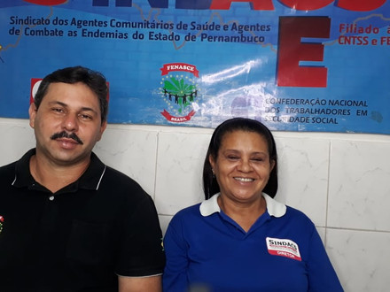 Presidente da FENASCE e a diretora de comunicação e divulgação do SINDACS PE participam de live