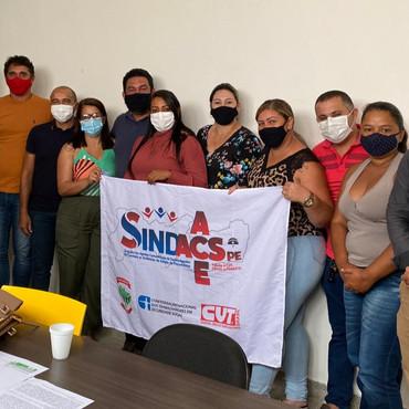 Sindacs PE participa de reunião com o Prefeito e a Secretária de Saúde do município Palmeirinha