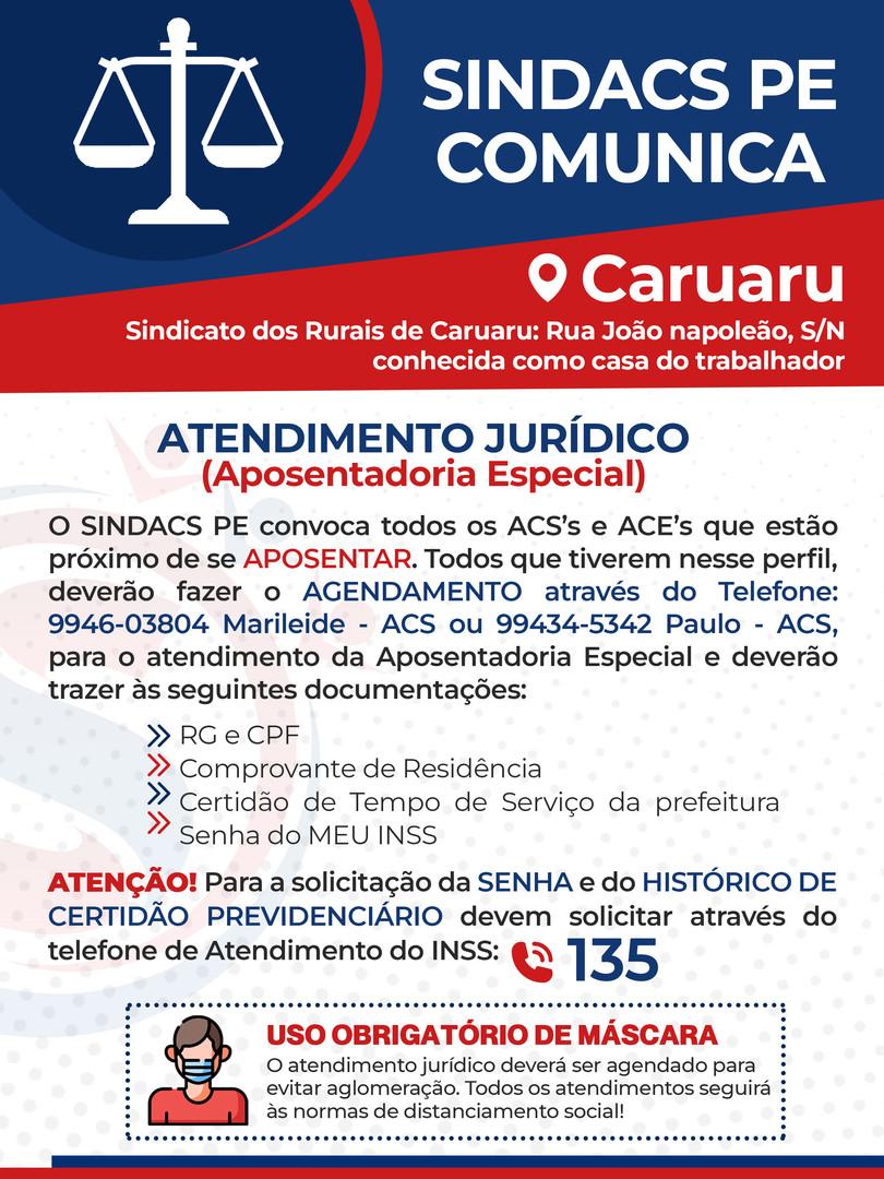Plantão Jurídico - Caruaru/20