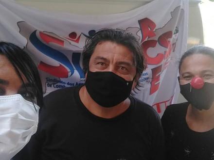 SINDACS PE presente no ato em apoio aos servidores do município de Jaboatão