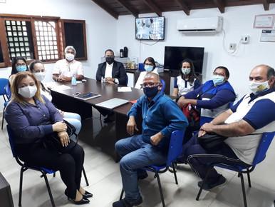 Diretores do SINDACS PE em reunião com ACEs e secretário de saúde de Palmares