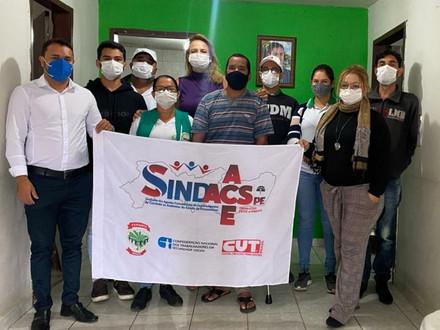 SINDACS PE se reúne com os ACE e Sec. de Saúde do município de Jupí