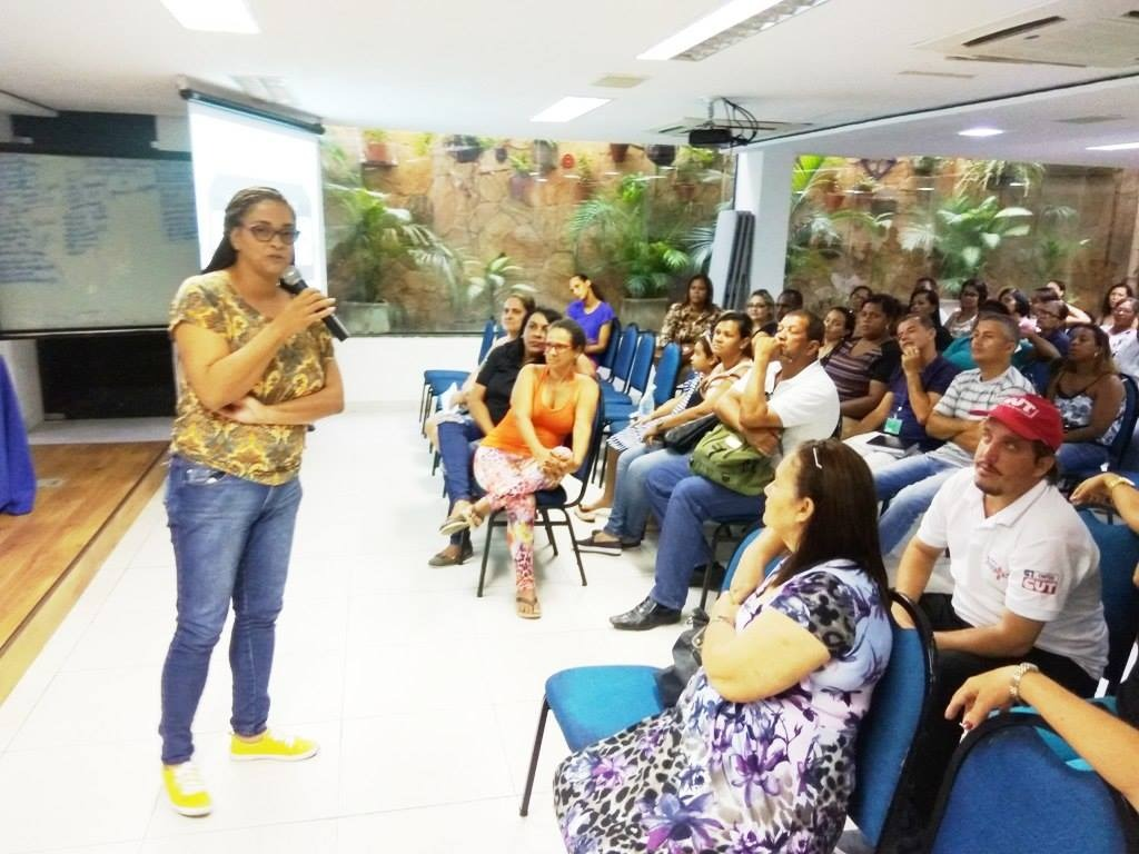 Assembleia Geral, na tarde desta terça-feira (08), no Auditório do Sindsprev/Recife-PE