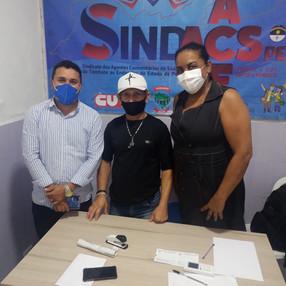 SINDACS PE recebe filiado de Jaboatão