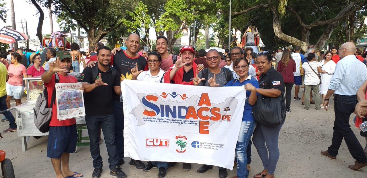 SINDACS PE participa do Ato Unificado contra a Reforma da Previdência
