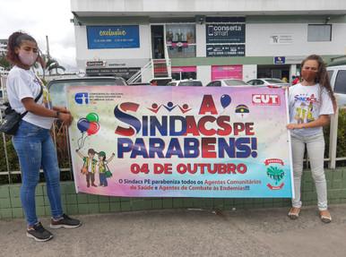 SINDACS PE realiza ações em homenagem ao Dia Nacional do ACS e ACE