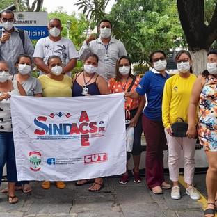 SINDACS participa ativamente de protesto no Recife contra a reforma da previdência