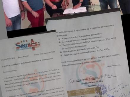 Representantes do SINDACS PE participam de reunião com candidatos a prefeito de Garanhuns