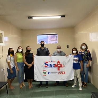 Diretores do  SINDACSPE participam de reunião com prefeito de São Joaquim do Monte