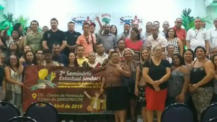 """IIº Seminário Estadual do SINDACS PE  """"Os impactos da Reforma da Previdência sobre os trabalhadores"""