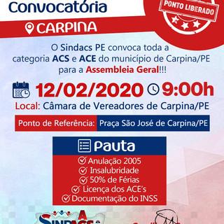 Convocatória Carpina