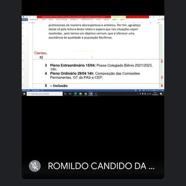Diretora do SINDACS PE em mais uma reunião executiva com o CMS Recife