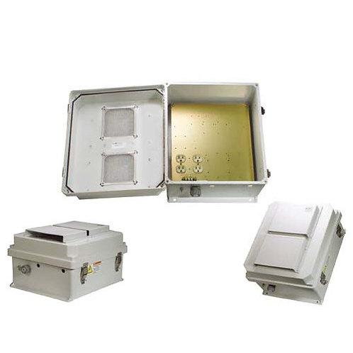 HW-N18-1V - 18x16x8 Enclosure, 120Vac MNT Plate, Vent