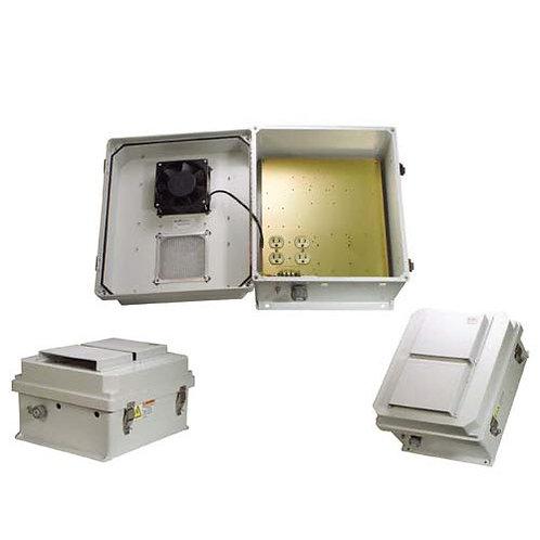 HW-N14-1FS - 14x12x7 Enclosure, 120Vac MNT Plate, Fan, SS Controller