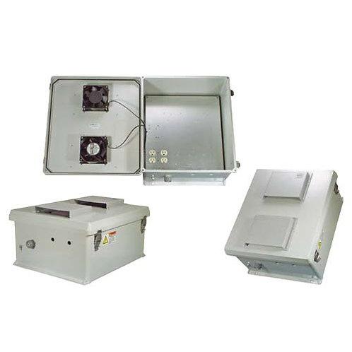 HW-N18-1HF - 18x16x8 Enclosure, 120Vac MNT Plate, Heat, Fans