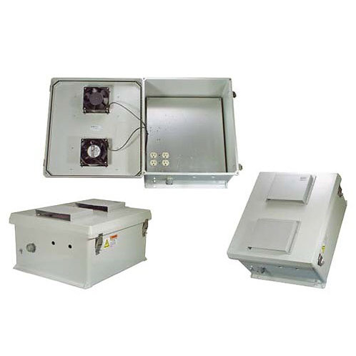 HW-N18-1HFS - 18x16x8 Enclosure, 120Vac MNT Plate, Heat, Fans, SS Controller