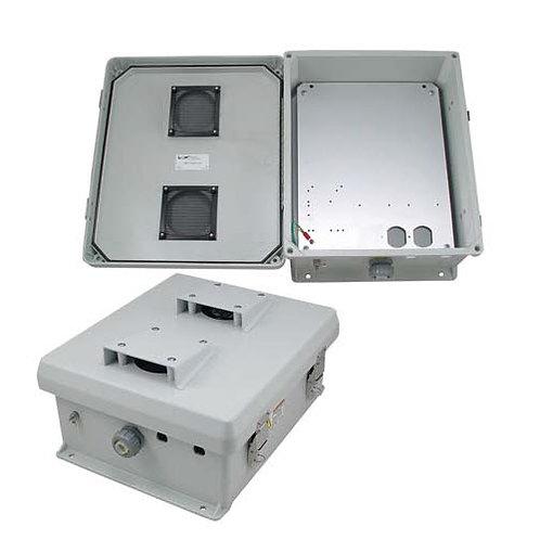 HW-N12-V - 12x10x5 Enclosure, MNT Plate, Vent