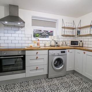 modern kitchen with underfloor heating