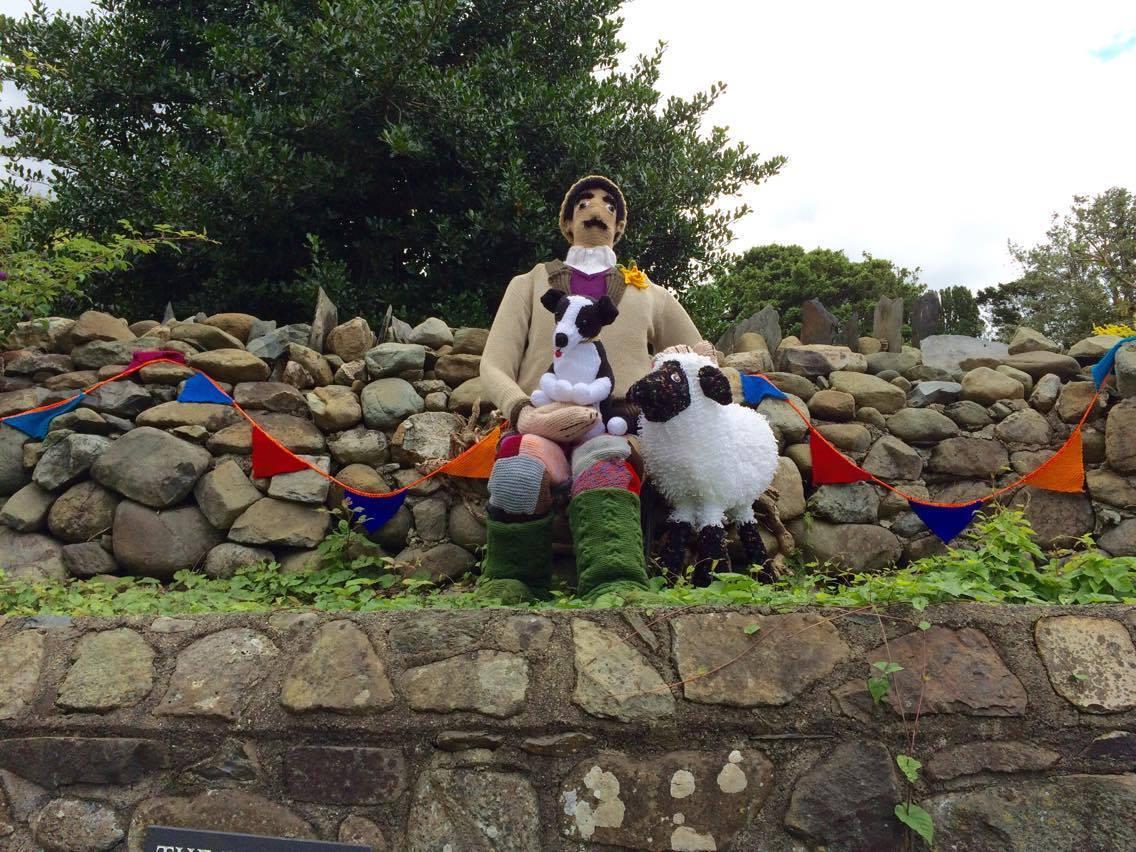 Sheepdog Trials Yarn Bombing