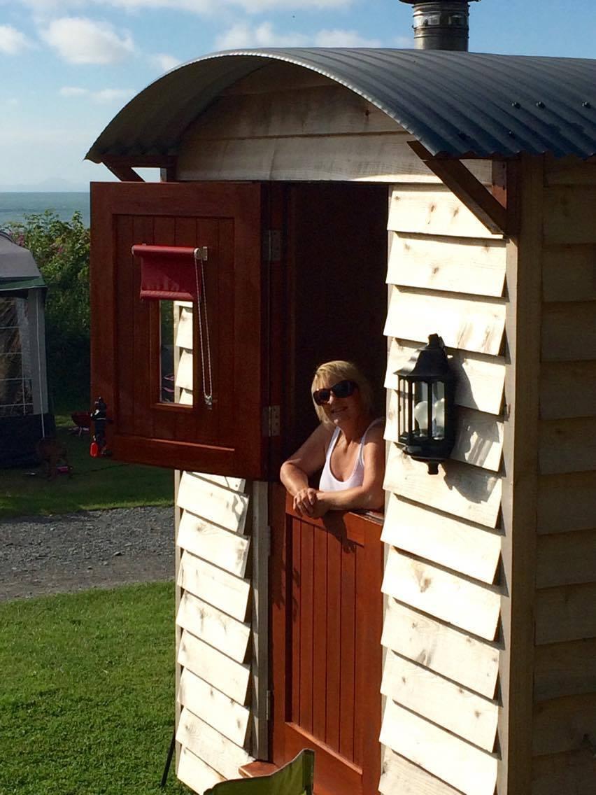 Tina enjoying her time at the Hut
