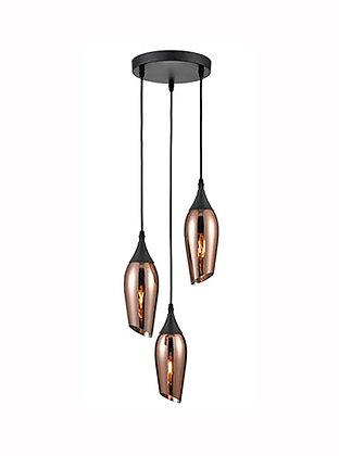 Taper 3 light Spreader Copper - FL2420-3/347