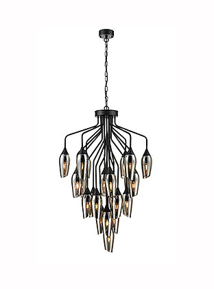 Taper 22 light with Smoked Glass - FL2420-22/345