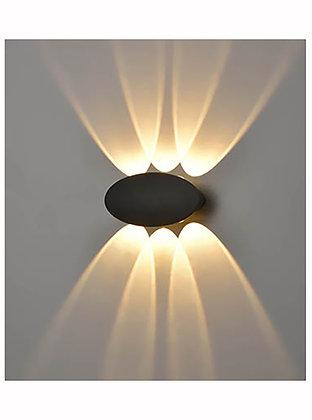 Aura Exterior 6lt LEDWall Light - EXT6630