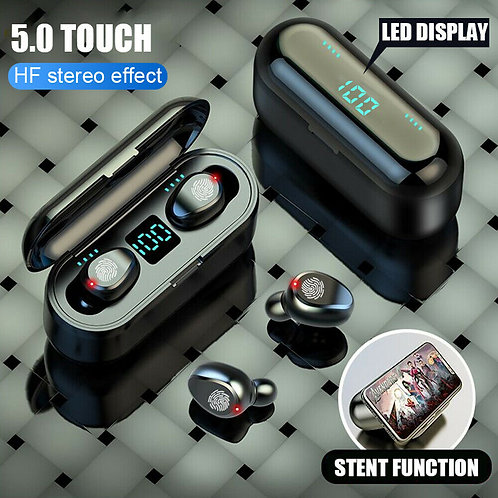 Touch Button Bluetooth 5.0 Headset TWS Wireless Earphones Mini Earbuds Stereo