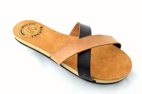 Wandal Sandal camel / black - simply version